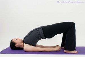 bed yoga - bridge