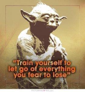 Yoda - letting go