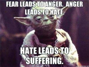 yoda - anger